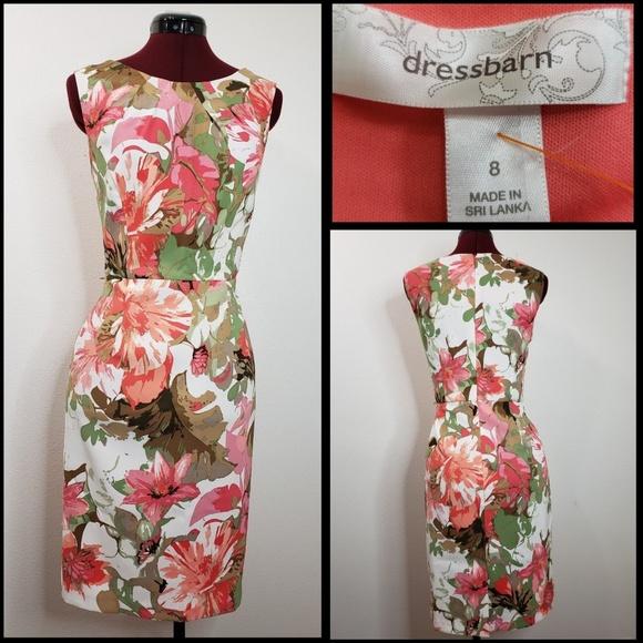 6ba45f52ef68f dressbarn woman floral sleeveless dress size 8